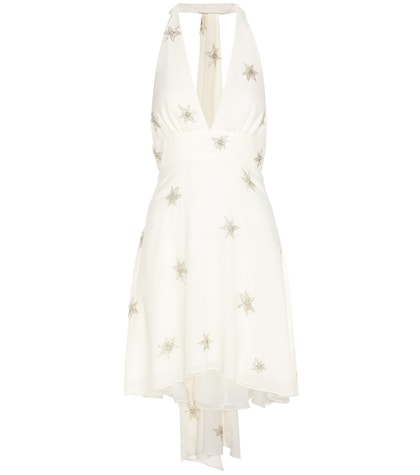saint laurent female beaded silk dress