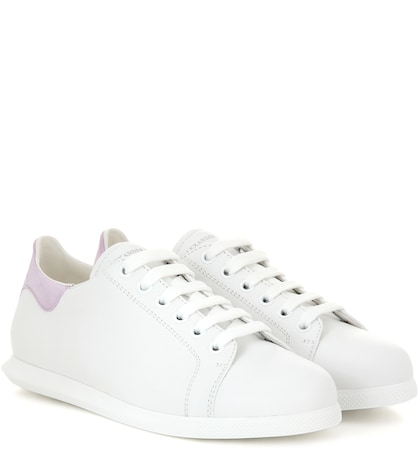 alexander mcqueen female leather sneakers