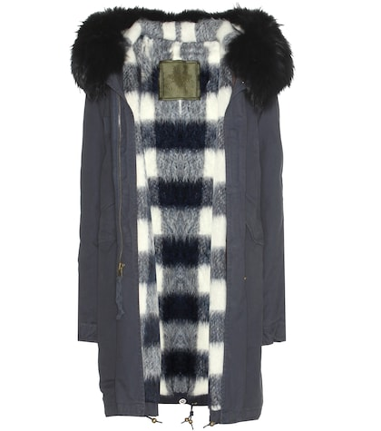 Cotton Parka With Fur-trimmed Hood