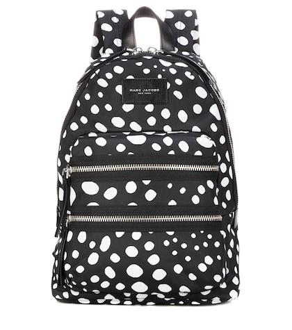Spot-Printed Biker backpack