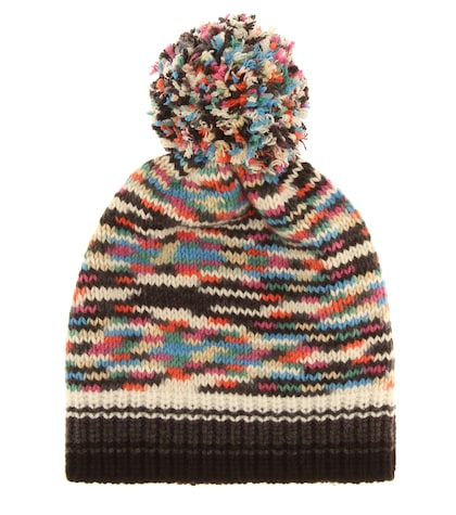 Cashmere and wool-blend beanie