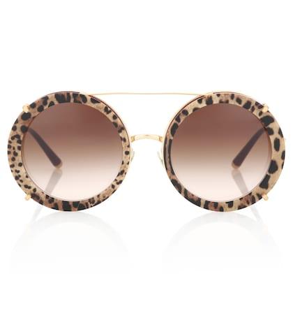 Dolce   Gabbana - Lunettes de soleil rondes double monture - 380 € 7fecab5fe2ec