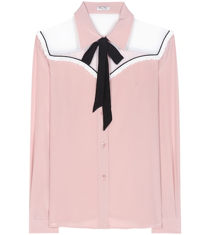 Silk pussy-bow blouse