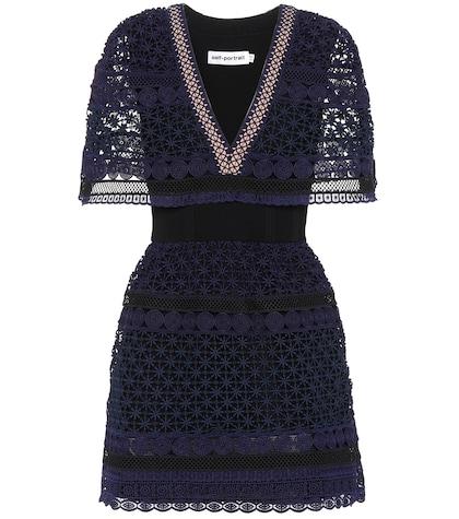 Guipure lace mini-dress