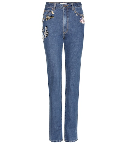 marc jacobs female embellished jeans