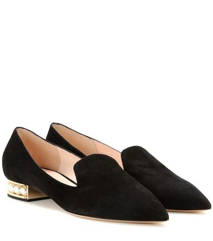 Casati embellished suede slippers