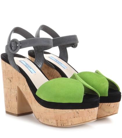 prada female suede sandals