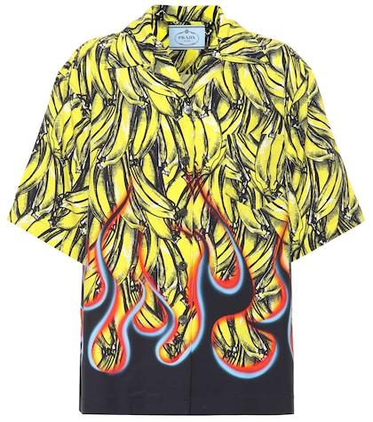 Poplin printed shirt
