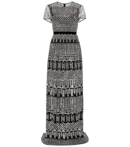 Sequinned Cotton Gown