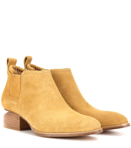 alexander wang female kori leather ankle boots