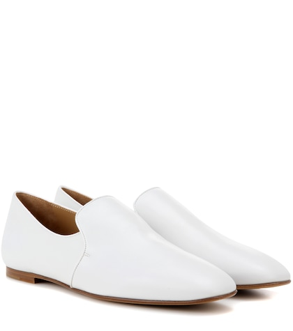 the row female alys leather slippers