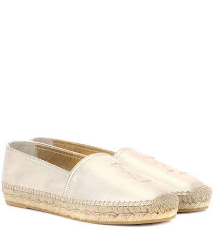 Monogram leather espadrilles