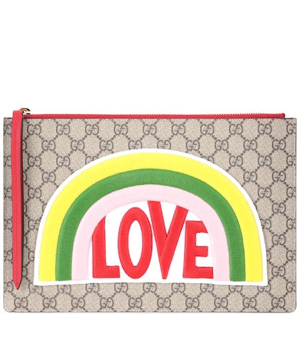GG Supreme embroidered clutch