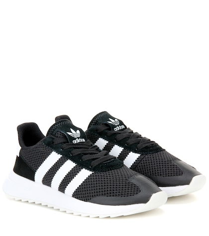 adidas originals female fabric and leather sneakers