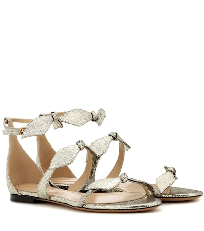 Mike metallic leather sandals