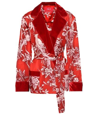 Giocasta printed silk jacket