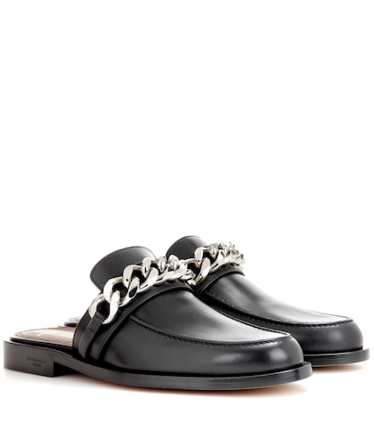 givenchy female chain leather loafers