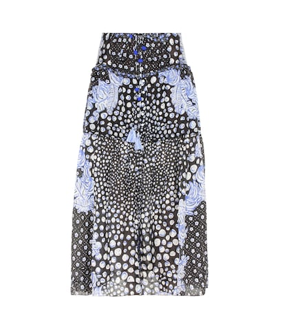 poupette st barth female printed silk skirt