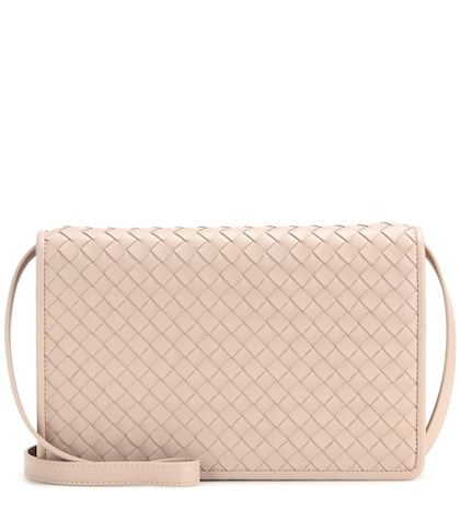 bottega veneta female intrecciato leather shoulder bag