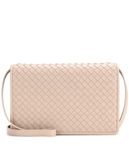 bottega veneta female intrecciato leather shoulder bag