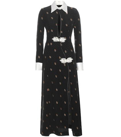 alessandra rich female jacquard silk dress
