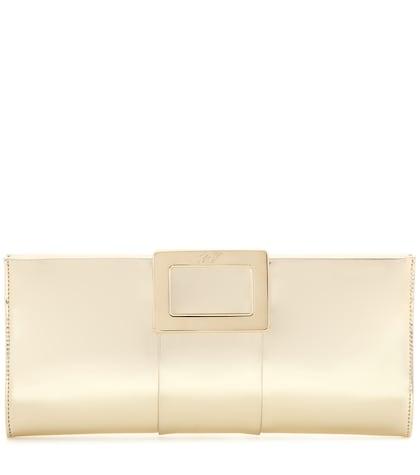 Belle Vivier Metallic Leather Clutch