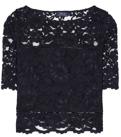 polo ralph lauren female lace top