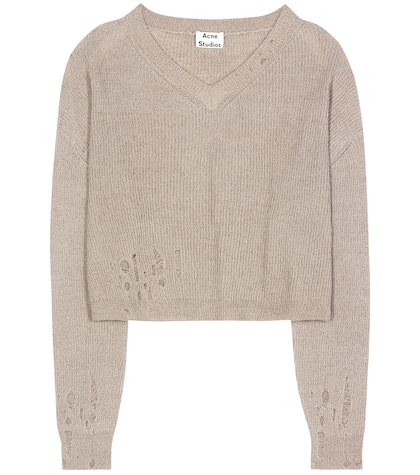 Antje cotton and alpaca-blend sweater