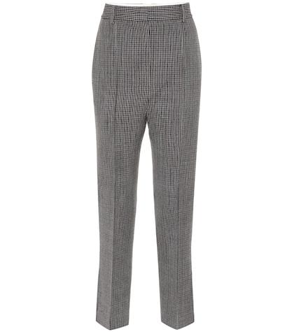 Pantalon raccourci en tweed Kyle