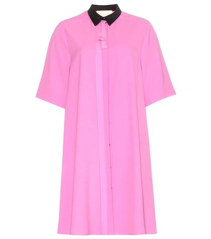 roksanda female morocain crepe dress