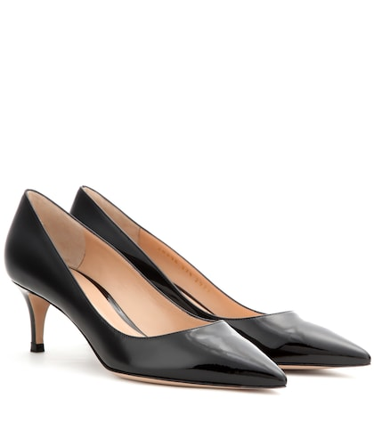 gianvito rossi female patentleather pumps