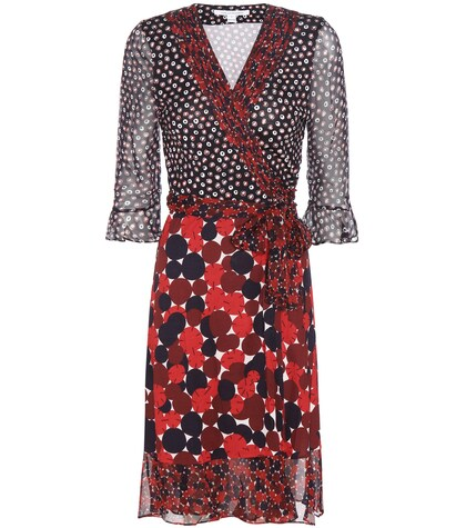 Nieves Printed Silk Wrap Dress