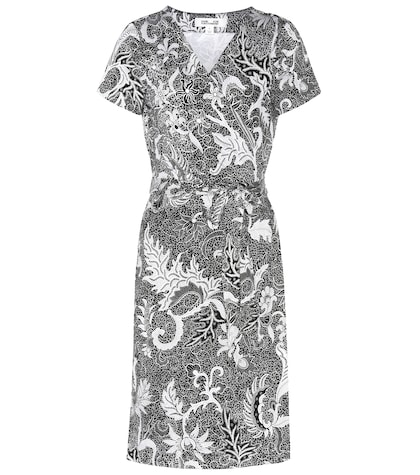 New Julian silk short sleeve wrap dress