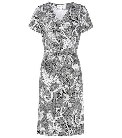 New Julian silk short sleeve wrap dress