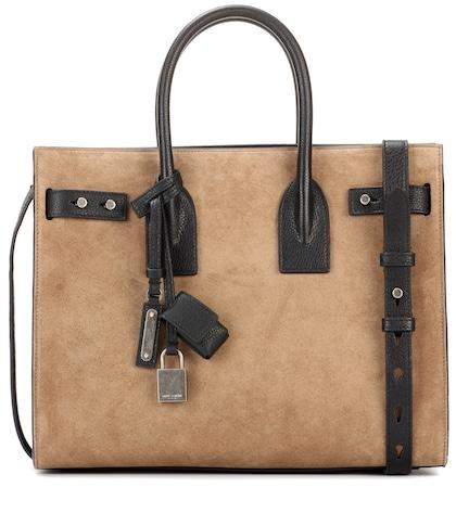 New Sac de Jour Medium suede shoulder bag
