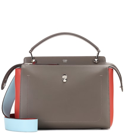 fendi female dotcom leather shoulder bag
