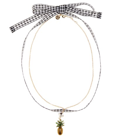 Embellished pineapple choker