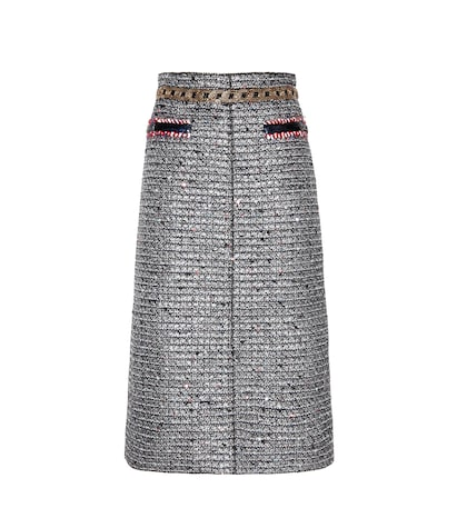 Embellished Metallic Skirt