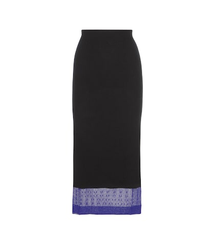 Cashmere-blend skirt