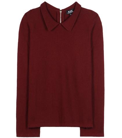 apc female 250960 mireille wool blouse