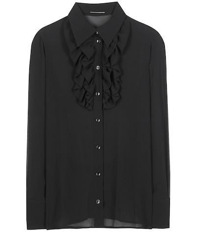 saint laurent female 188971 silk shirt