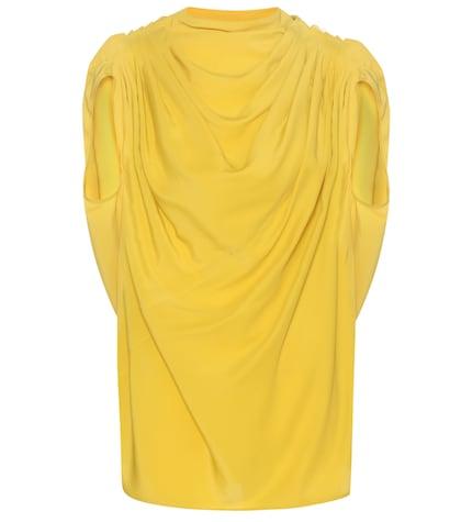 Draped Silk-blend Top