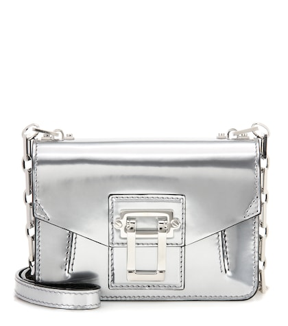 Hava Chain Crossbody metallic leather shoulder bag