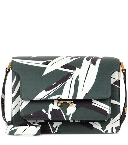 Trunk Printed Leather Shoulder Bag