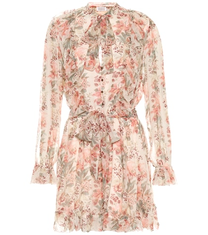 Printed silk playsuit