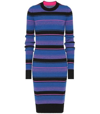 Striped wool midi dress