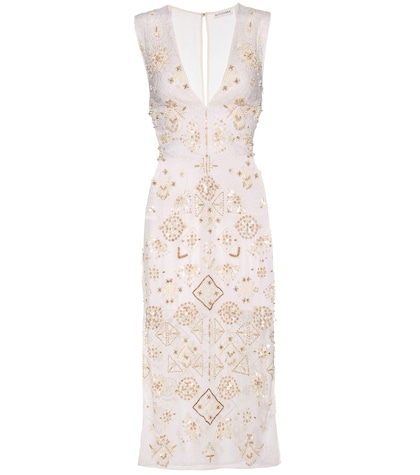 altuzarra female pamplona beaded cotton dress