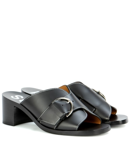 acne studios female vikki leather sandals