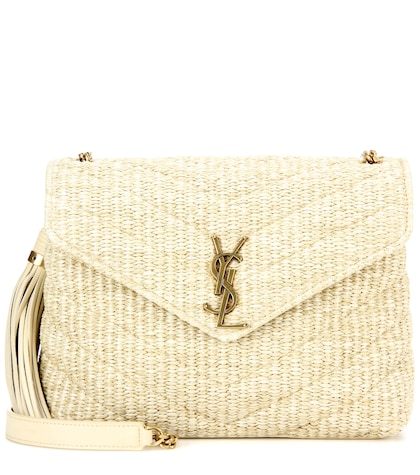 Monogram Small Soft raffia shoulder bag