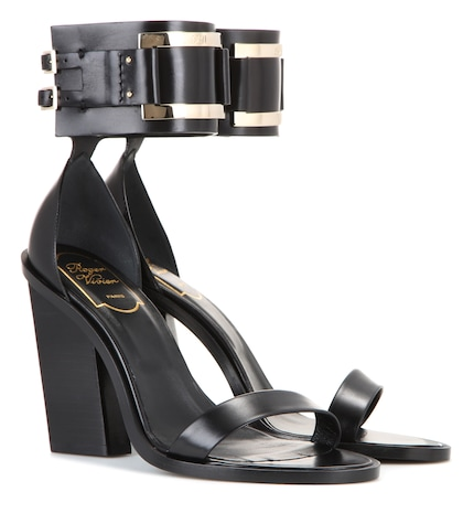 roger vivier female leather sandals